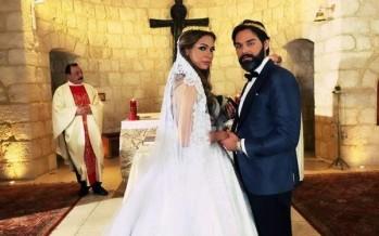 بالصور- حفل زفاف جويل داغر ومازن معضم
