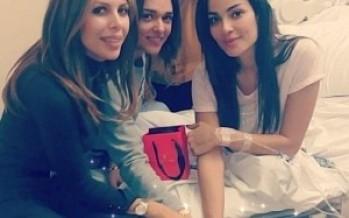 نادين نسيب نجيم تحتفل بعيد ميلادها مع والدتها في المستشفى!