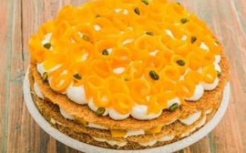 ترايفل لذيذ جدا للكنافة بالمانجو مع طبقات من الكريمة بالقشطة
