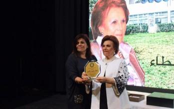 تكريم مديرة ثانوية القلعة بعد ٣٠ عاماً من العطاء وصاحب الثانوية معروف سعد يسمي مبنى الروضات باسم السيدة نوال حيدر الأمين