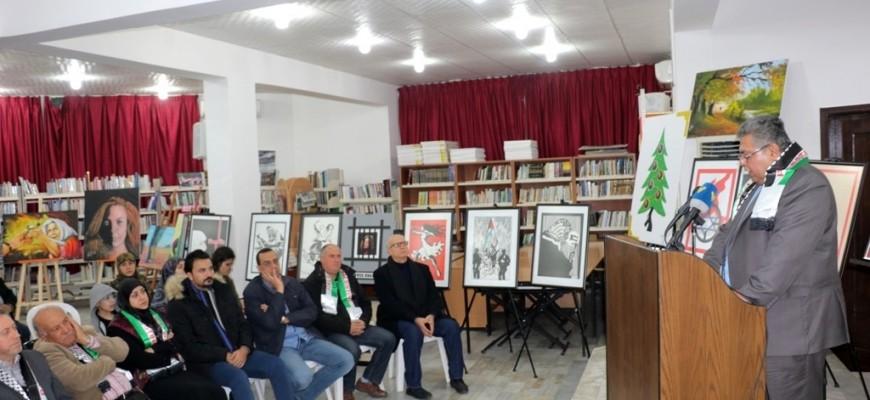 النبطية ترسم المناضلة عهد التميمي أيقونة فلسطين