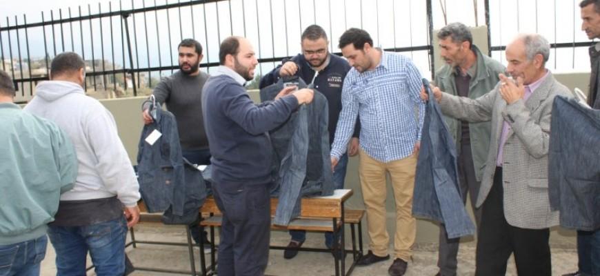 توزيع ملابس من مركز لبنان للعمل التطوّعي