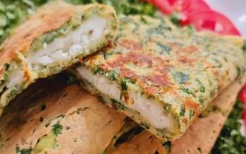 عجّة بحشوة الجبنة: