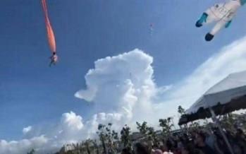 طائرة ورقية تسحب طفلة تايوانية 10 أمتار في الهواء