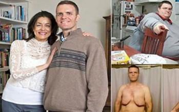 صور شاب أمريكي فقد ثلثي وزنه ليقابل حبيبته.. شاهد الفرق