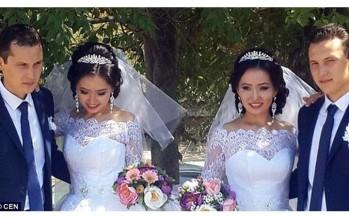بالصور.. توأم تزوجتا توأما وحملتا في الوقت ذاته!