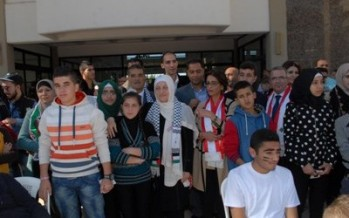 الحريري التقت وفدا فلسطينيا من ابناء أسرى ومدارس الضفة