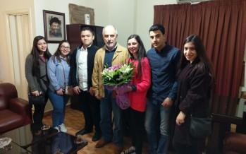 طلاب الإنجيلية في صيدا يلتقون وزير الشباب والرياضة محمد فنيش