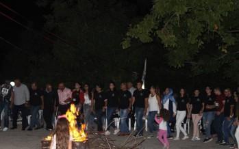 إختتام المخيم الصيفي لنادي شباب لبنان المقيم والمغترب في كفرحونة – جزين بمهرجان وعشاء قروي وسهرة نار