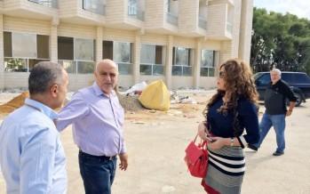 لورا السن موفدة من مدير عام تعاونية الموظفين تفقدت مقر المكتب الجديد للتعاونية في جنوب لبنان