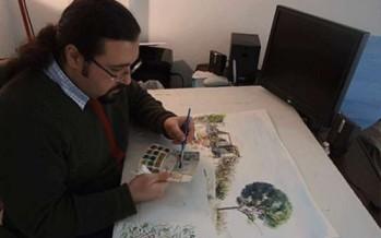 الفنان التشكيلي البزري: للإبداع بحريّة واحتراف في مواجهة الإرهاب