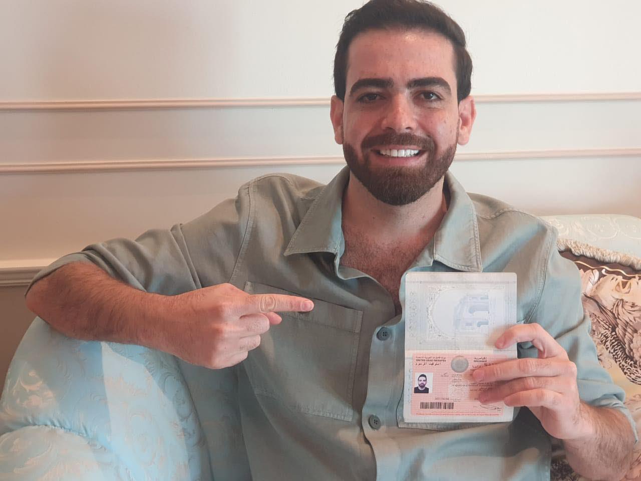 الإقامة الذهبية لـ إياد النقيب في الإمارات